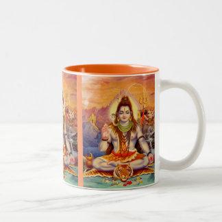 Lord Shiva Meditera Råna Två-Tonad Mugg