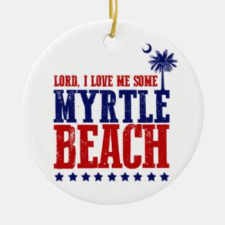 Lorden älskar jag mig något Myrtle Beach Julgransprydnad Keramik