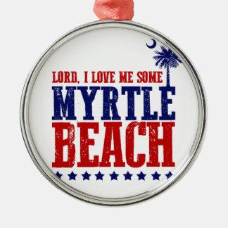 Lorden älskar jag mig något Myrtle Beach Julgransprydnad Metall