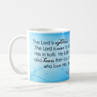 Lorden är rättfärdig ~-Psalm145:17 - 20 Kaffemugg