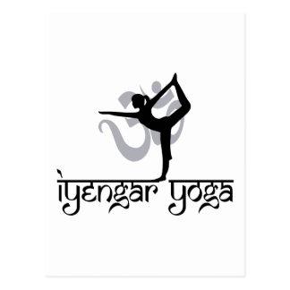 Lorden av dansen poserar den Iyengar Yogagåvan Vykort