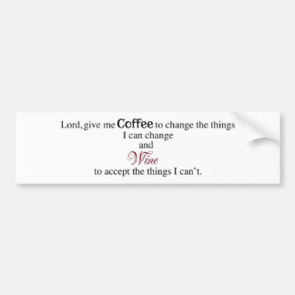Lorden ger mig kaffe… bildekal