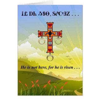 Lords Bön i Cherokee tomt hälsningkort Hälsningskort