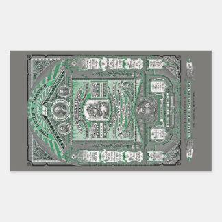 Lord'sens gravyren för Bön vintage (grönt) Retangel Klistermärken