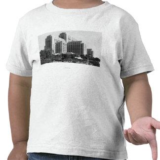 Los Angeles CA beskådar av allmänt sjukhus Tee Shirts