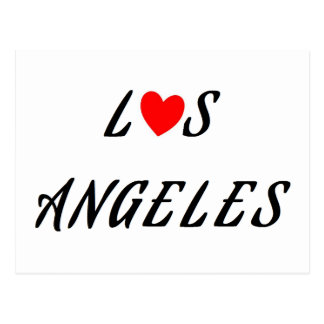 Los Angeles coeur rouge Vykort