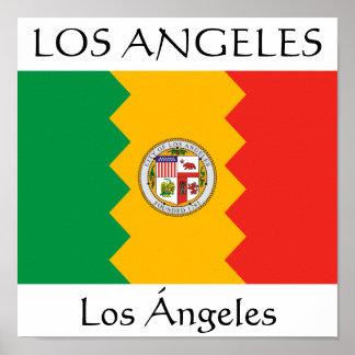 Los Angeles flagga Poster