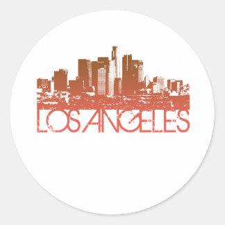 Los Angeles horisontdesign Runt Klistermärke