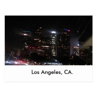 Los Angeles i stadens centrum byggnader Vykort