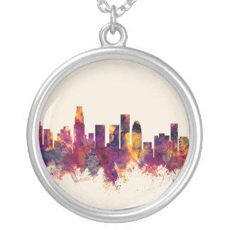 Los Angeles Kalifornien horisont Silverpläterat Halsband