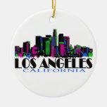 Los Angeles Kalifornien neonhorisont Jul Dekorationer