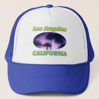 """""""Los Angeles Kalifornien palmträd"""" hatt Truckerkeps"""