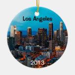 Los Angeles minnessak Juldekoration