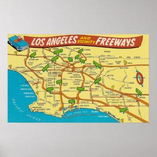 Los Angeles motorvägar Poster