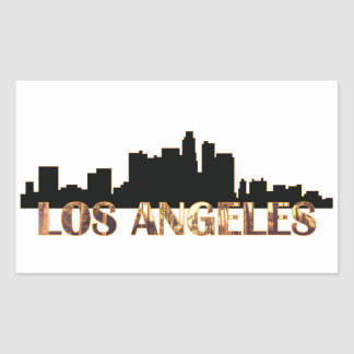 Los Angeles Rektangulärt Klistermärke