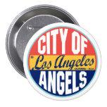 Los Angeles vintageetikett Knappar Med Nål