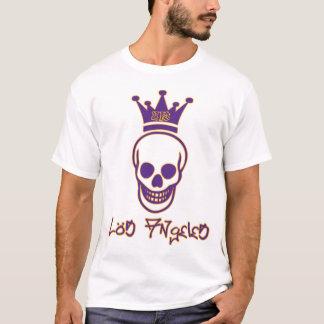Los metar skjortan för 213 skalle - lilor och guld t shirts