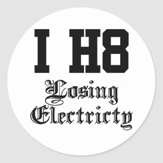 losingelectricity runt klistermärke