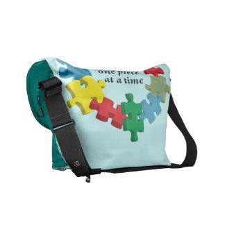 Lösning av den pussel… messenger baglten. Blått Kurir Väska