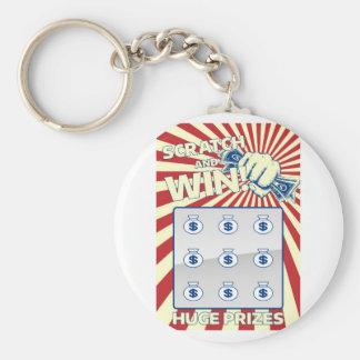 Lottoskrapakort Rund Nyckelring