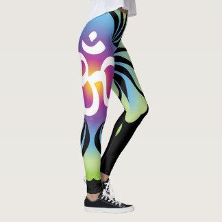 Lotusblomma för OM-Yogadamasker Leggings