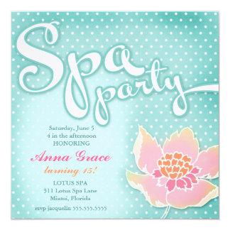 Lotusblomma för party för GCAquaSpa Fyrkantigt 13,3 Cm Inbjudningskort