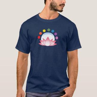 Lotusblomma med chakra tee shirt