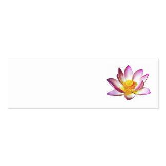 lotusblomma set av smala visitkort