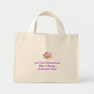 lotusblomma, www.TimeToUnwind.com Yoga & MassageJa Mini Tygkasse