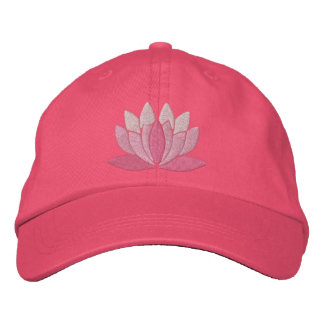 Lotusblommablomma Broderad Keps