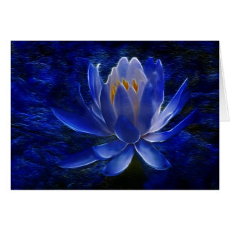 Lotusblommablomma och dess menande hälsningskort