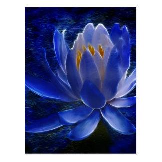 Lotusblommablomma och dess menande vykort