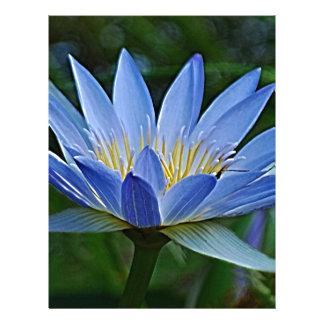 Lotusblommablomma och menande brevhuvud