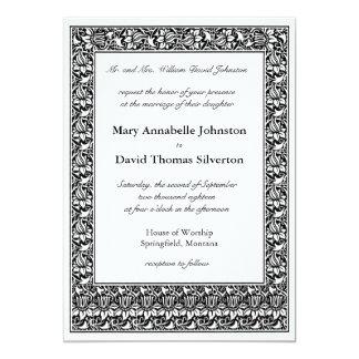 Lotusblommablommaföräldrar av bruden 12,7 x 17,8 cm inbjudningskort