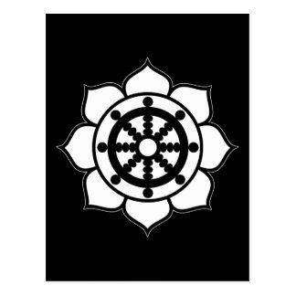 Lotusblommablomman Dharma rullar Vykort