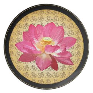 Lotusblommablomman OM pläterar 1 Tallrik