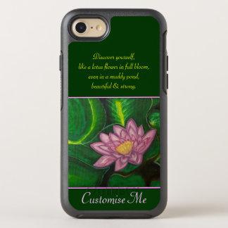Lotusblommablommar (liljan vadderar), OtterBox symmetry iPhone 7 skal