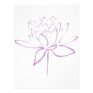 LotusblommaCalligraphy (lavendel) Brevhuvud