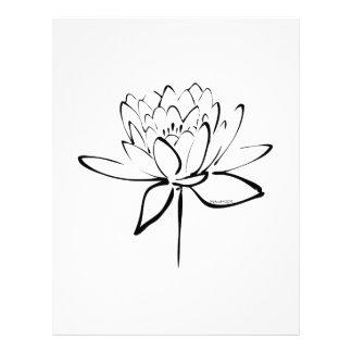 LotusblommaCalligraphy (svarten) Brevhuvud
