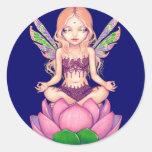 """""""Lotusblommafe"""" klistermärke"""