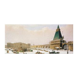 Loubyanska kvadrerar i Moscow Canvastryck