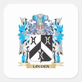 Louden vapensköld - familjvapensköld fyrkantigt klistermärke