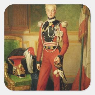 Louis-Charles-Philippe av den Orleans hertigen av Fyrkantigt Klistermärke