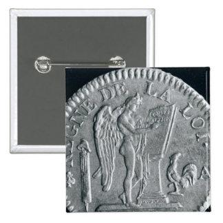 Louis d'or från regeringstiden av Louis XVI, guld Standard Kanpp Fyrkantig 5.1 Cm