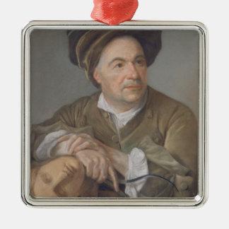 Louis Francois Roubiliac (1702-62) (pastell på Julgransprydnad Metall