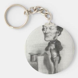 Louis-Joseph buffé av Honore Daumier Rund Nyckelring