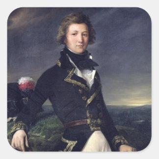 Louis-Philippe d'Orleans 1834 Fyrkantigt Klistermärke