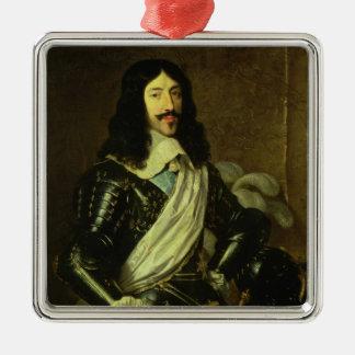 Louis XIII (1601-43) (olja på kanfas) Julgransprydnad Metall