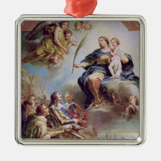 Louis XIII som ägnar kyrkan Julgransprydnad Metall