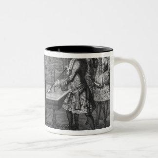 Louis XIV leka biljard med hans broder Två-Tonad Mugg